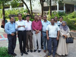 Visit at Noakhali Science and Technology University during the M&E of Development Project Training at Comilla BARD